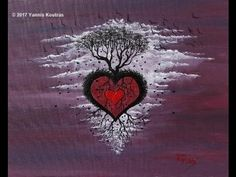 Love Tree - Acrylic Painting on Canvas – Easy to Paint