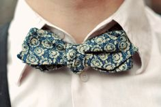 Obsessed with floral print bow ties
