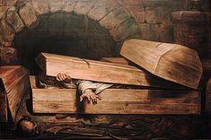 L' Inhumation précipitée (The Hasty Burial), 1854 by Antoine Wiertz Memento Mori, Creepy Urban Legends, Premature Burial, William Turner, Art Nouveau, Scary Stories, True Stories, Illustrations, Museum Of Fine Arts