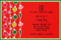 Christmas Party Invitations from www.wiregrassweddings.com.