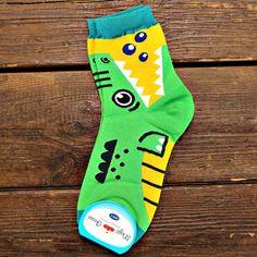 Adorable Crocodile Alligator Bite Socks Animal Shaped Cotton Socks