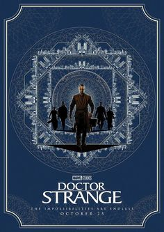 Marvel and Matt Ferguson (Lord Of The Rings, Guardians of the Galaxy) have released four brand new stylized posters for Doctor Strange, featuring the titular hero, The Ancient One and more. Marvel Doctor Strange, Doctor Strange Poster, Marvel 616, Marvel Dc Comics, Marvel Avengers, Poster Marvel, Films Marvel, Marvel Characters, Retro Poster