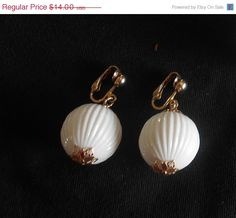 SALE Vintage Sarah Coventry White Dangle by VintageVarietyFinds