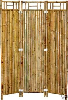 Bamboo Screens Room Dividers - Tiki Bar Durable and Eco-Friendly Set of 2