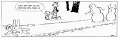 Calvin & Hobbes Snowmen Bowling