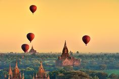 How enchanting does this look? and it actually exists! Balloons over Bagan, located in Burma