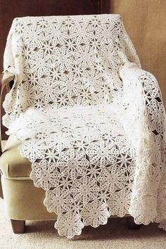 Floral motif free afgahn crochet
