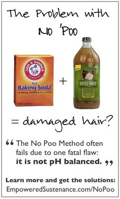 Curious about No Poo damaging hair? Also, pH-balanced solutions for DIY hair care.