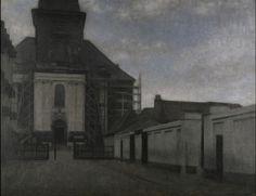 Strandgade with Christians Kirke in the background, Vilhelm Hammershøi