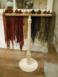 Rug Hooking Wool Strip Color Sorting Rack   eBay great idea...