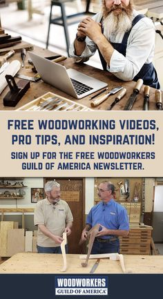 Congrats! You've been invited to get instructional woodworking videos, projects, special marketing offers, and expert tips & techniques. Sign up for the free Woodworkers Guild of America Newsletter. Woodworking Lessons, Woodworking Shop Layout, Woodworking Videos, Woodworking Projects, Easy Spells, Pyrography Patterns, Hobby Kits, Family Painting, Diy Home Repair
