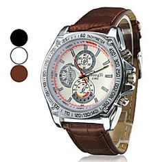 Men's Racing Design Dial PU Leather Band Quartz Wrist Watch (Assorted Colors). Grab substantial discounts up to 50% Off at Light in the Box using Coupons & Promo Codes
