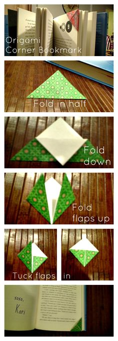 Novelty and Chevron: Simple Origami Corner Bookmark