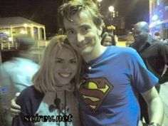Billie Piper and David Tennant....He really is superman! lol jk