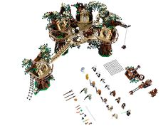 Ewok™ Village | shopswell Star Wars Ewok, Lego Star Wars, Figurine, Lego Ewok, Building Toys, Model Building Kits, Toys R Us, Kids Toys, Star Space