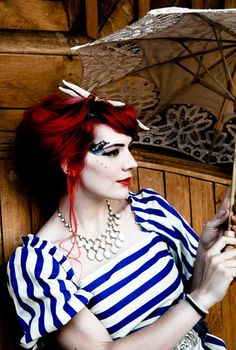 Singer Gabby Young working the nautical look