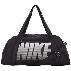 Nike Training Gym Club Bag ($33) ❤ liked on Polyvore featuring bags, white bag, top handle bags, long bags, shoulder strap bags and long strap shoulder bags
