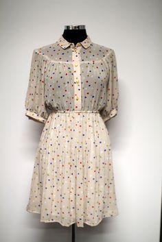 Cream confetti vintage dress | Bleecker Street Vintage & Homewares #bleeckerstreetvintage #vintage #dress