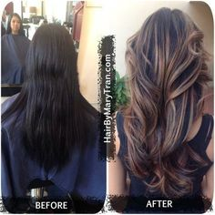 Trendy Hair Highlights Picture DescriptionMary Tran - Santa Monica, CA, United States. Color Correction Balayage Ombre Highlights and haircut shedonteversleep. Hair Color And Cut, Brown Hair Colors, Reverse Balayage, Brown Hair With Highlights, Ombre Highlights, Summer Highlights, Balayage Hair, Bayalage, Haircolor