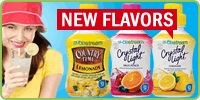 New Flavors: Country Time & Crystal Light SodaStream Soda Stream Recipes, Beverages, Drinks, New Flavour, Yummy Treats, Food And Drink, Crystal, Make It Yourself, Country