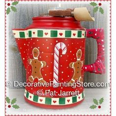 Christmas Ginger Coffee Pot- Pat Jarrett - PDF Download