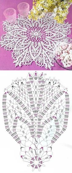 Perforated napkins crochet scheme...♥ Deniz ♥                                                                                                                                                     More