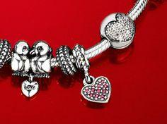 #Valentine's Day #Pandora bracelet charms