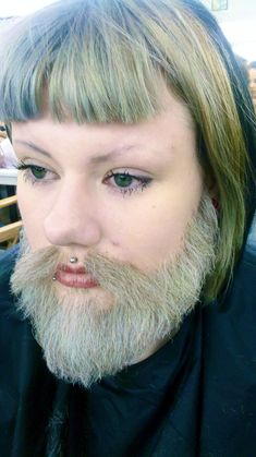 Makeup by Becky Brazier: Hand-laid crepe wool beard