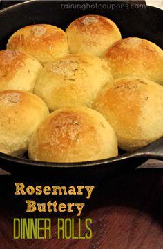 Rosemary Buttery Dinner Rolls