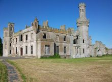 Duckett's Grove, Co. Carlow. Built for the Duckett family around 1830. Built as a great house and estate, the ruins nonetheless incorporate a number of towers and turrets in a castellated Gothic revival style.