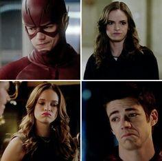 Snowbarry faces hahaha soo cute as always! Caitlin and Barry The Flash » Snowbarry