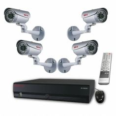 Surveillance System Bundle - 16 Channel Network Video Recorder with Huge Storage and 4 HD CCTV Cameras (Indoor/Outdoor, Weatherproof, Day Night Vision) Surveillance System, Security Camera, Night Vision, Cell Phone Accessories, Indoor Outdoor, Cameras, Channel, Storage, High Definition