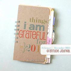 Gratitude Journal MARDEC 2013 365 Things I Am by iloveitall, $38.00
