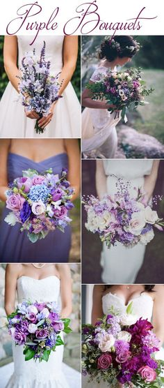 Purple Wedding Bouquets More