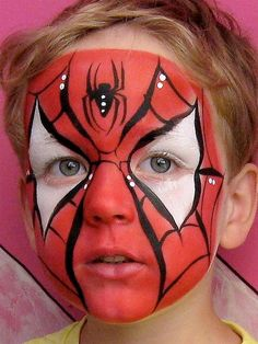 Halloween Schminkideen Kinder – 13 unheimlich tolle und einfache Ideen – Spiderm… Halloween make up ideas children – 13 incredibly great and simple ideas – Spiderman – face painting Face Painting For Boys, Face Painting Designs, Paint Designs, Body Painting, Shark Face Painting, Painting Tips, Spiderman Makeup, Spiderman Face, Face Painting Spiderman