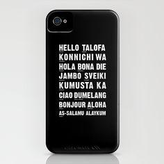 Hello Language iPhone Case