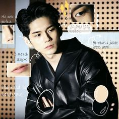 Face Anatomy, Face Swaps, Ong Seongwoo, Jinyoung, Pop Group, Book Art, Handsome, Korean, Leather Jacket
