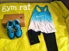 teal Nike workout gear | High Low Maintenance