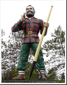 Paul Bunyon Statue - Bangor, Maine. I'm so glad Jonathan got to see Paul Bunyan up close with me! I remember going as a kid and being fascinated by it.