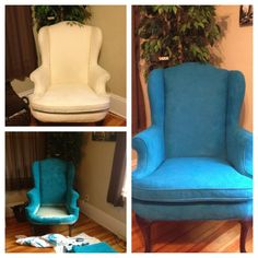 1000 images about h r on pinterest fabric spray paint victorian chair and wingback chairs Teal spray paint for metal