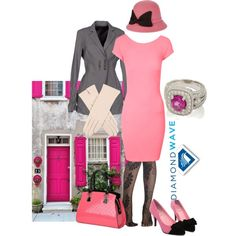 """Hot pink"" by maria-kuroshchepova on Polyvore"