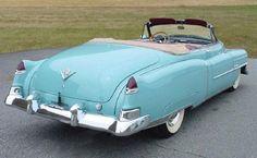 1950 Cadillac Series 62 Baby Blue Convertible.