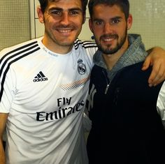 Isco and Iker Casillas  Real Madrid