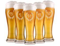6 Groomsmen Beer Glasses, Personalized Pilsner Glass, Engraved Glasses, Beer Mug, Wedding Party Gifts, Gifts for Groomsmen, 16oz Glasses