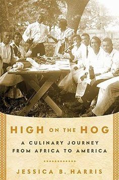 """High on the Hog is a narrative of African American food history, with a few recipes.  """"The African Diaspora brought with it many of the foodways that most people think of as truly American. When looking at one of America's earliest and most influential cookbooks, 1824's Mary Randolph's The Virginia House-wife, featured ingredients that simply hadn't existed in America a hundred years earlier (e.g., field peas & okra..."""" Short review at link."""