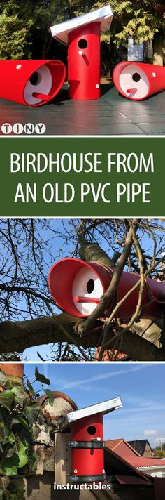 Birdhouse From an Old PVC Pipe #upcycle #outdoors #yard