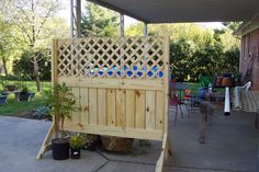 Pokeberry Hill: Our New Privacy Patio Screen For Renters And Raffia To  Repair Old Wicker.