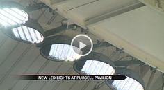 Notre Dame switches to LED lights in Purcell Pavilion -  There are 116 lights in the ceiling of the Purcell Pavilion on the Notre Dame campus. Because all of those lights use up a lot of electricity the university switched to LED lights.