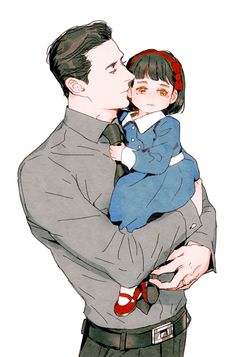 Hisao Ishikawa and his adopted daughter Kioko - All Grown Up! Manga Art, Manga Anime, Anime Art, Fanarts Anime, Anime Characters, Character Drawing, Character Concept, Boy Character, Art Reference Poses