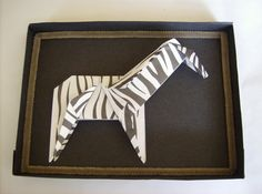 Origami Frame_Zebra by origato on Etsy Origami, Paper Art, Etsy, Frame, Decor, Picture Frame, Papercraft, Decoration, Frames
